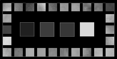 skin color grey scale on black 100% light